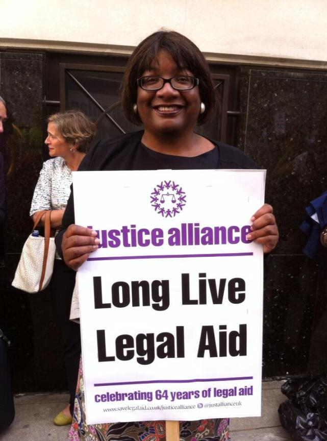 Diane Abott The legal aid rally at the Old Bailey: As it happened on social meeja