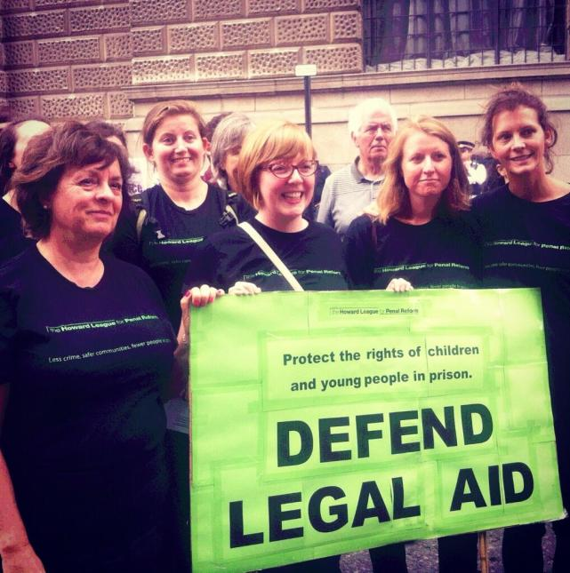 howard league The legal aid rally at the Old Bailey: As it happened on social meeja