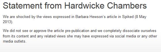 Hardwicke-statement